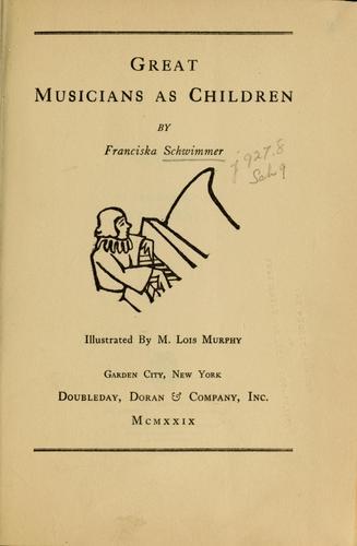 Great musicians as children