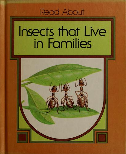 Insects that live in families by Dean Morris
