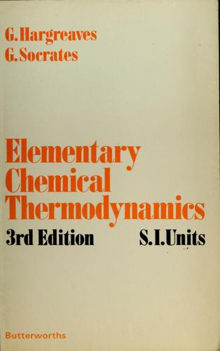 Elementary chemical thermodynamics by Gordon Hargreaves