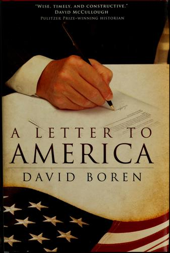 A letter to America by David Boren