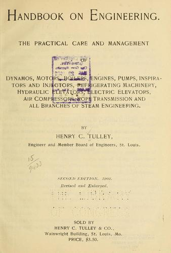 Handbook on engineering by Henry Charles Tulley
