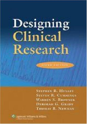 Designing clinical research by