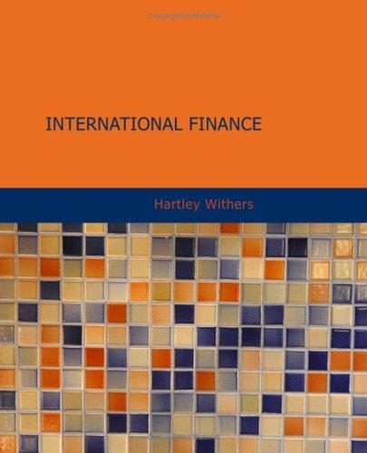 International Finance by Hartley Withers