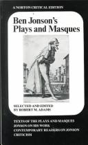 Plays and Masques by Ben Jonson