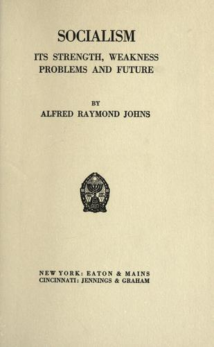 Socialism by Alfred Raymond Johns