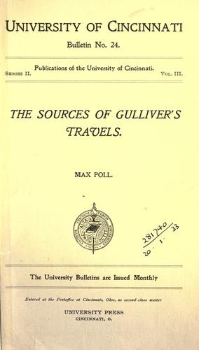 The sources of Gulliver's travels by Max Poll