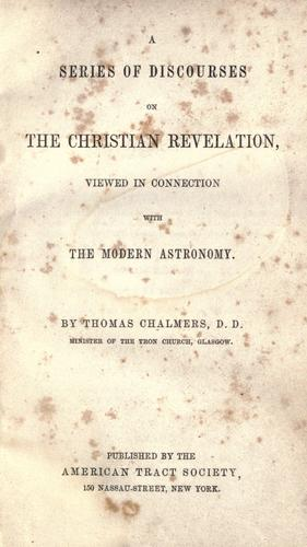 A series of discourses on the Christian revelation