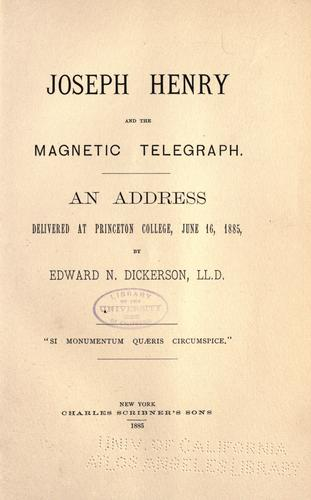 Joseph Henry and the magnetic telegraph.