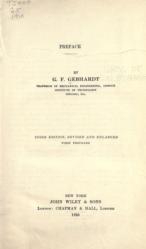 Steam power plant engineering by George Frederick Gebhardt