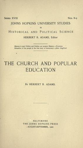 The church and popular education