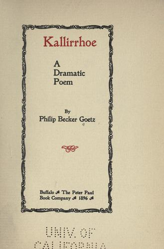 Kallirrhoe by Philip Becker Goetz