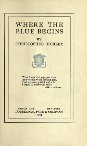 Where the blue begins.