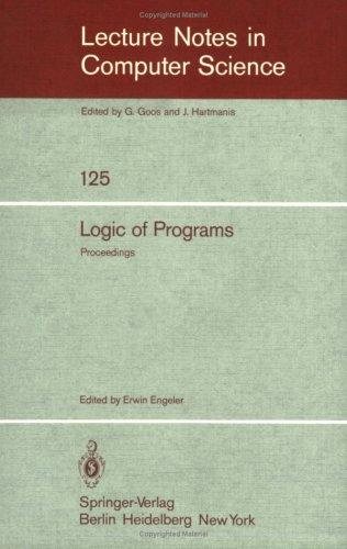 Logic of Programs by E. Engeler