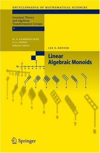 Linear Algebraic Monoids (Encyclopaedia of Mathematical Sciences) by Lex E. Renner