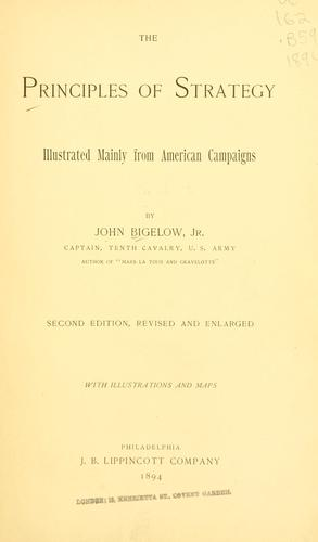 The principles of strategy by Bigelow, John