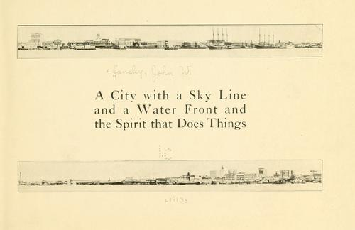 A city with a sky line and a water front and the spirit that does things by John W. Lansley