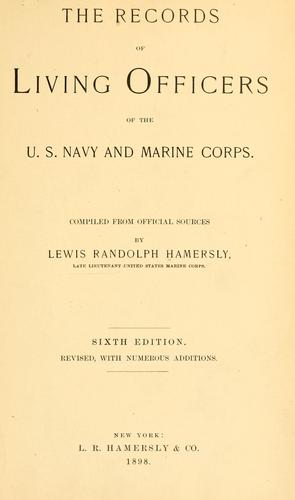 The records of living officers of the U.S. navy and marine corps.