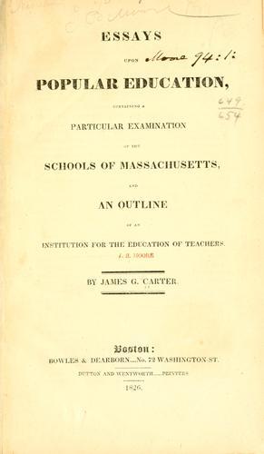 Essays upon popular education