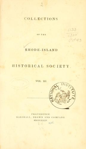 The early history of Narragansett by Elisha R. Potter