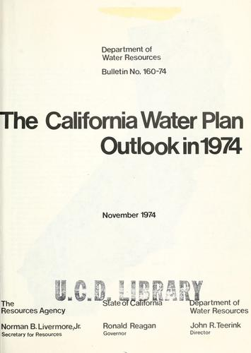 The California water plan