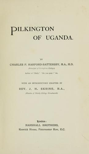 Pilkington of Uganda.