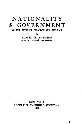 Nationality and government