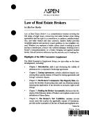 Law of real estate brokers by D. Barlow Burke
