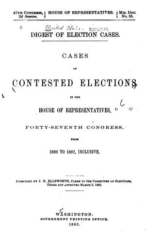Digest of election cases.