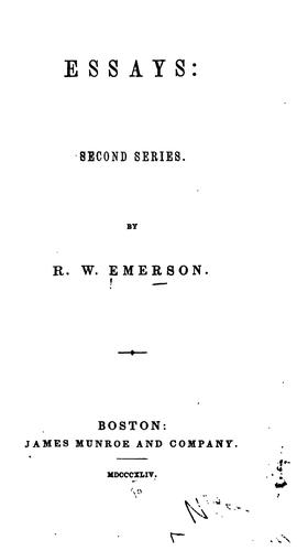 Essays: Second Series by Ralph Waldo Emerson