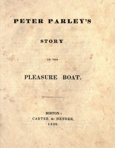 Peter Parley's story of the pleasure boat by