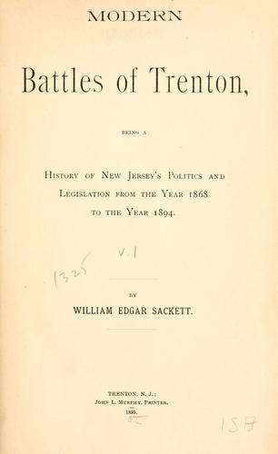 Modern battles of Trenton …