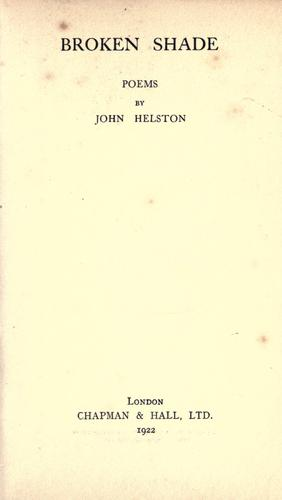 Broken shade by John Helston